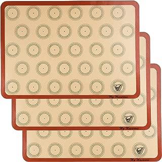 Silicone Macaron Baking Mat - Set of 3 Half Sheet (Thick & Large 11 5/8