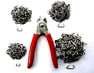 MRO hog Ring Fasteners kit - USA Made Stainless hog Rings in Four Sizes - 100+ Each Size