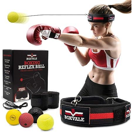 Hpera Boxing Reflex Ball Reaction Balls Boxing Fight Ball Reflex Boxing Equipments Reflex Box a Ball Punch Ball Headband Boxing Ball Headband