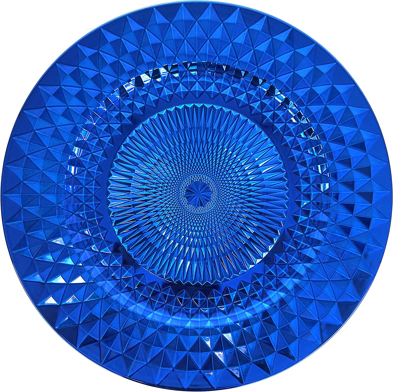 Allgala Super intense SALE 13-Inch 6-Pack Heavy Quality Plastic Max 75% OFF Spa Diamond Pattern