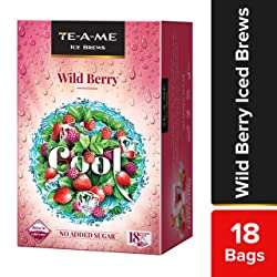 TE-A-ME Ice Brews Cold Brew Ice Infusion, Wild Berry, 18 Pyramid Infusion Bags
