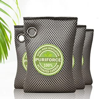 Bravex Coconut Shell Charcoal Activated Carbon Air Purifying Bags (4 Pack), Car Air Purifier, Closet Freshener, Home Air F...