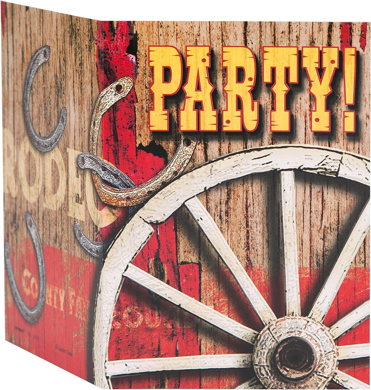 Unique Party- Póster Para la Puerta Fiesta de Rodeo Western, Multicolor, 152 cm x 76 cm (49629)