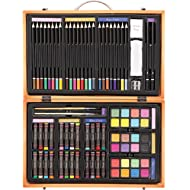 Darice 80-Piece Deluxe Art Set – Art Supplies for Drawing, Painting and More in a Compact,...