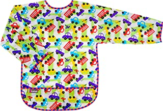 Kushies Waterproof Bib with Sleeves, Cars and Trucks, 2-4 Years,Toddler, Large