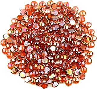 orange glass beads for vases