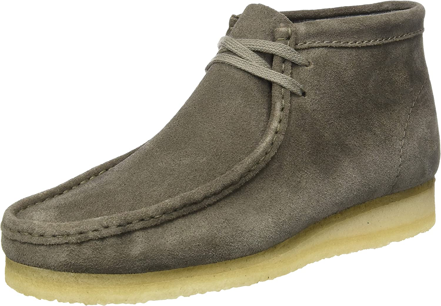 Clarks Originals Wallabee Boot - Grey Suede Mens Boots