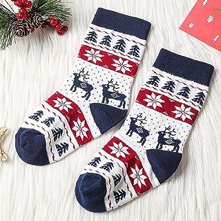 GNEHSL, Calcetines Navidad,Navidad Medias Calcetines Antideslizante Invierno Cálido Algodón Calcetines Para Recién Nacido Bebé Niños Adultos Accesorios De Ropa Suave Regalos Navidad, Blanco