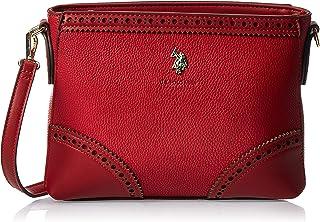 US Polo Womens Crossbody Bag, Red - BIULM0585WVP400
