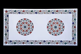 Handicraft Store Rectangle Marble Table Top wit Inlaid for Dining Table, Office Table, Patio Table and Home Decor