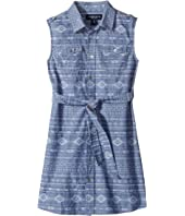 Toobydoo - Tribal Chambray Belted Dress (Toddler/Little Kids/Big Kids)