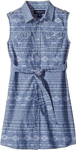 Tribal Chambray Belted Dress (Toddler/Little Kids/Big Kids)