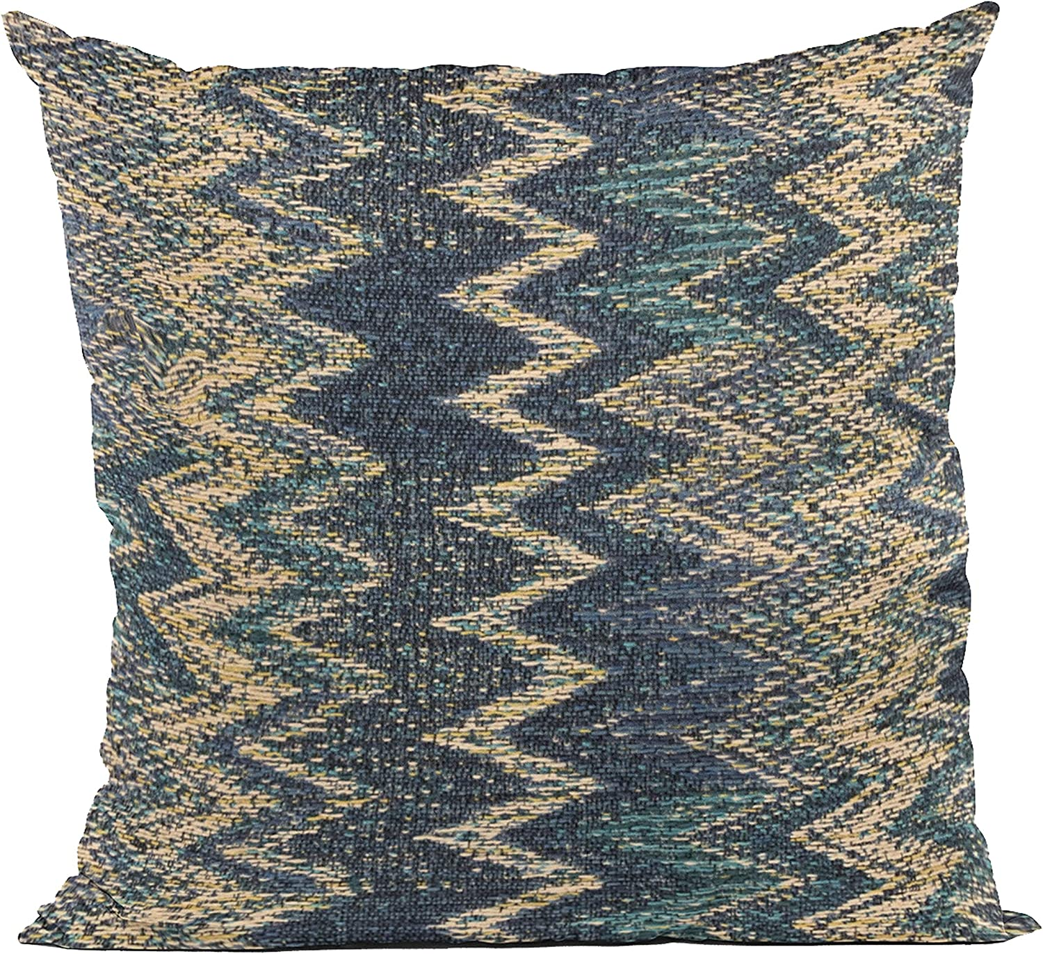 Plutus Brands Blue Wave Chevron 12 SEAL limited product in famous Throw Luxury Pillow