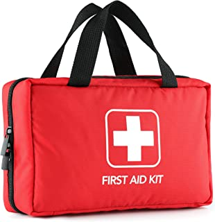 220 Piece First Aid Kit with Hospital Grade Medical Supplies Exceeds FDA and OSHA..