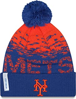 MLB 2016 On Field Sport Knit Beanie, Royal/Orange, One Size
