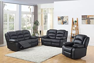 Amazon.com: Leather Living Room Sets