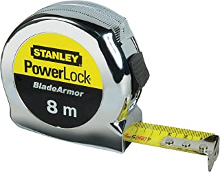 STANLEY Powerlock Tape with Blade Armor, 8m Metric Only