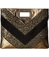 Just Cavalli - Glitter and Laminated Leather Bag