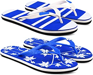 StyleArt Women's Combo of 2 Pair Flip Flops, Blue & Blue EVA Slipper for Women, Blended Combination of Luxury Style, Light...