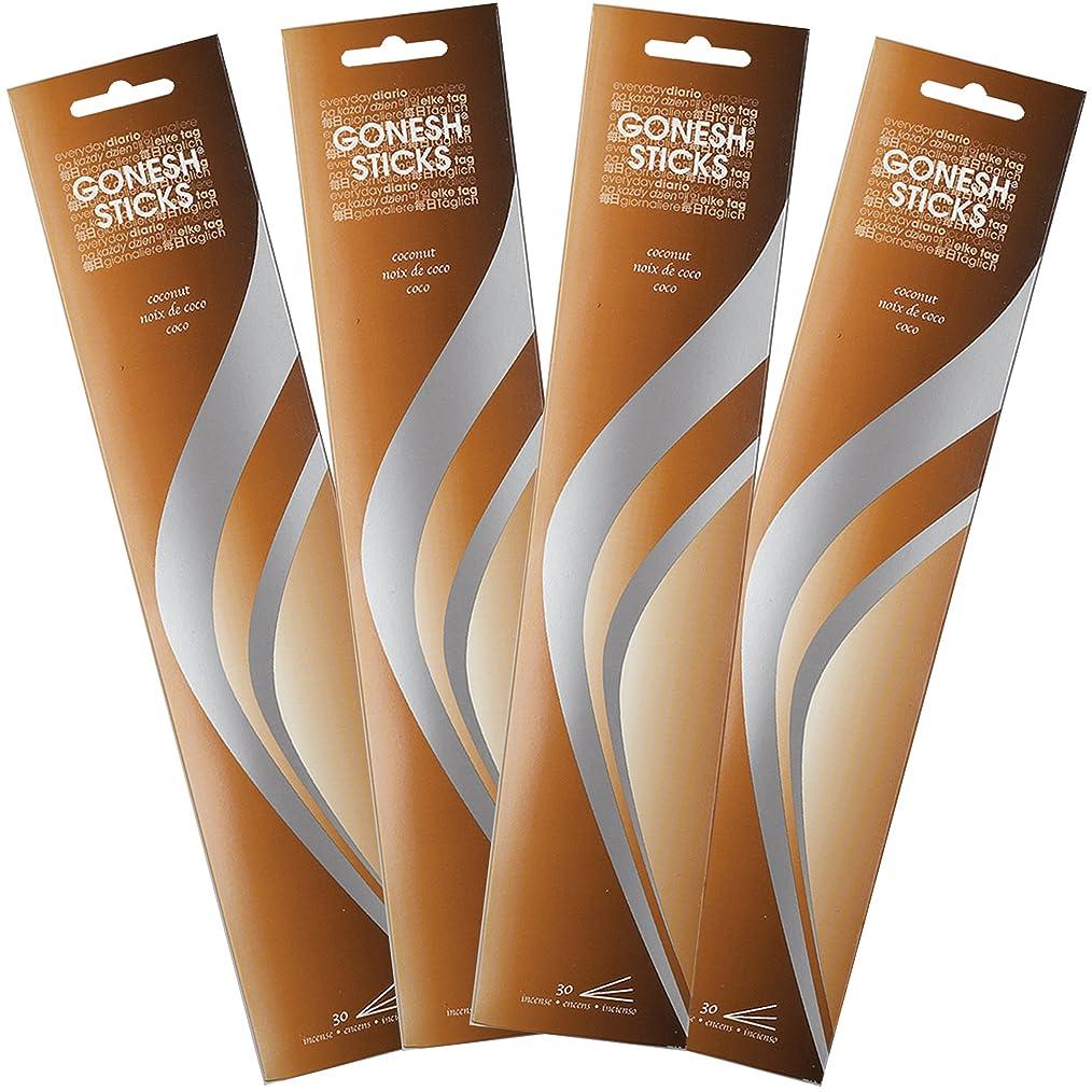 歌う釈義解説Gonesh Incense Sticks?–?Coconut lot of 4