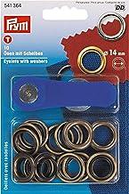 Prym Antiek messingkleurige 14mm oogjes + ringen (10st), metaal, 14 x 9,5 x 2,5 cm