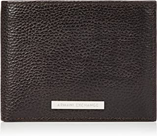 A|X Armani Exchange Men's Leather Trifold Credit Card Wallet