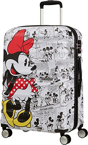 American Tourister Wavebreaker Disney - Comics - Spinner M Bagage Enfant, 67 cm, 64 L, Multicolore (Minnie Comics White)