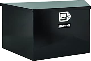 Buyers Products Black Steel Trailer Tongue Truck Box (18.5x15x49/37 Inch)