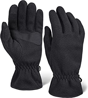 دستکش های پشم زمستانی - صفحه لمسی ، دستکش پشم نرم حرارتی برای گرم شدن هوای سرد - مناسب زنان و مردان