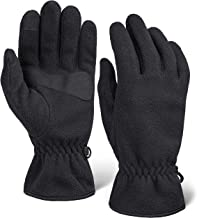 Fleece Touchscreen Winter Gloves for Men & Women - Warm & Soft Black Stretch Thermal Driving & Running Glove for Cold Weather