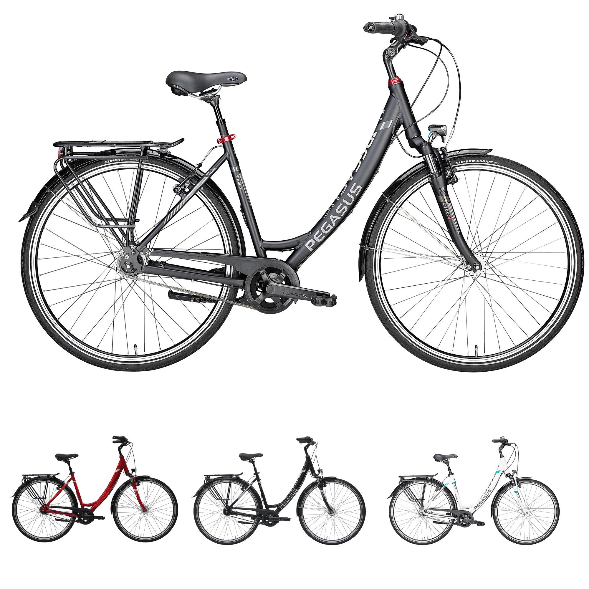Bicicleta de paseo para mujer Pegasus Solero SL de Zeg; marco Wave ...