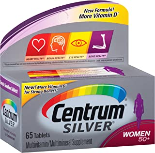 Centrum Silver Multivitamin for Women 50 Plus, Multivitamin/Multimineral Supplement with Vitamin D3, B Vitamins, Calcium a...