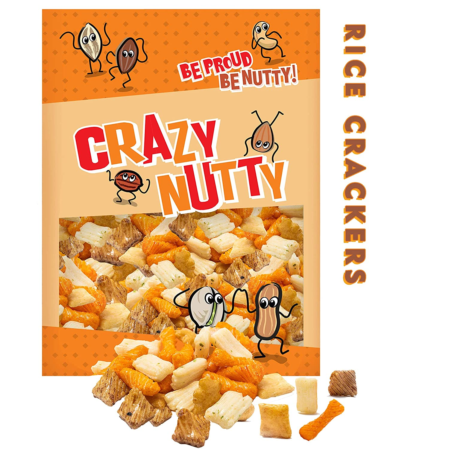Rice Crackers Max 61% OFF - 1 Pound and Outlet SALE Nutritious Snack Crunchy