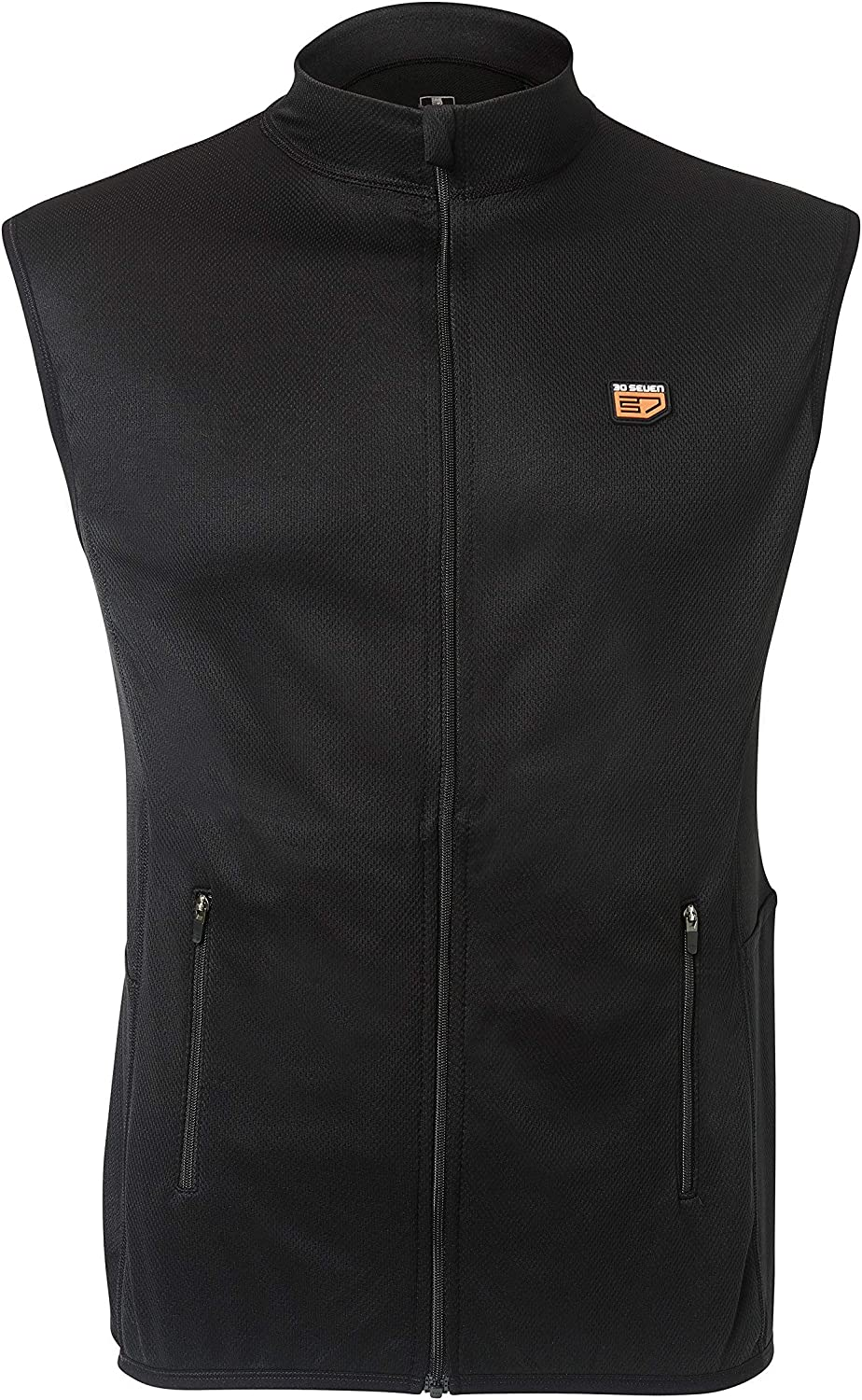 30seven Heated Vest — Regular Fit Sleeveless Base Layer with Zipper for Men or Women with Rechargeable Battery