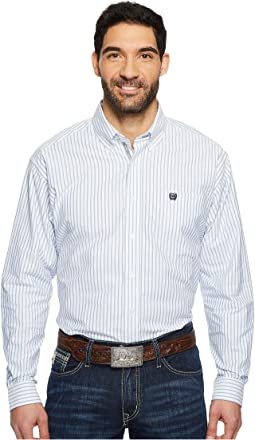 Cinch - Long Sleeve Oxford Weave Stripe