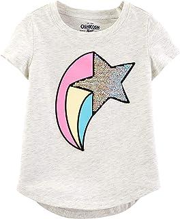 Osh Kosh Girls' Toddler Sequin Short Sleeve T-Shirt