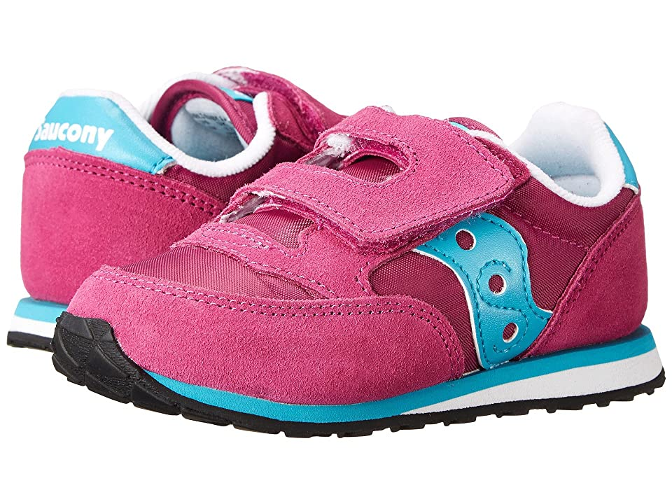 Saucony Kids Originals Jazz Hook Loop (Toddler/Little Kid) (Magenta/Blue) Girls Shoes