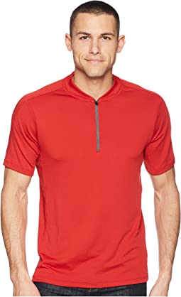 PE360 Active Mesh Zip Polo
