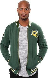 NFL Men's Full Zip Fleece Vintage Letterman Varsity Jacket
