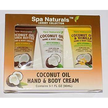 Spa Naturals Coconut Oil Hand & Body Cream Luxury Collection