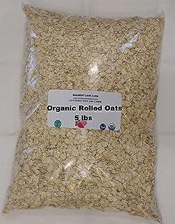 Rolled Oats 5 Pounds Old Fashioned Oatmeal, USDA Organic, Non-GMO Bulk