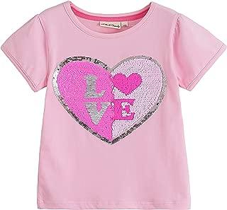 Glitter Flip Sequin Girl's T-Shirt Top Short/Long Sleeve, Fleece Jacket, Leggings 3-14 Years