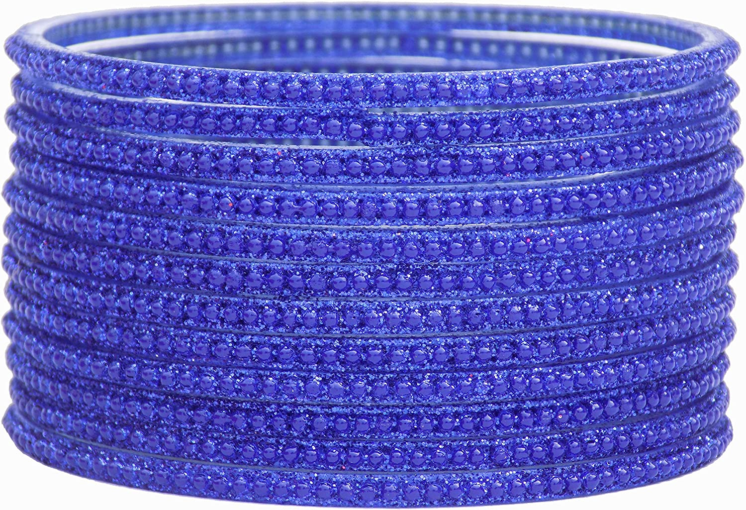 JD'Z COLLECTION Indian Glass Bangles Set Bollywood Costume Matching Glass Bangles Set for Womens & Girls Ethnic Bangles Jewelry,for Wedding Partywear,Bridal Bangles Set of 12 Blue