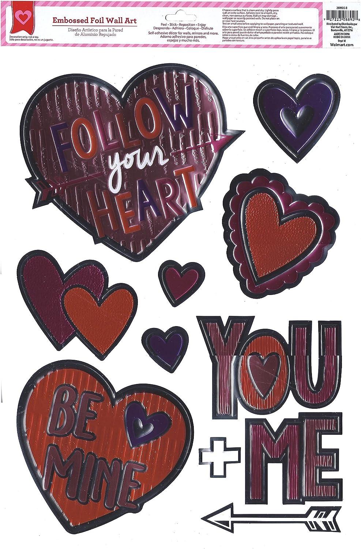 Valentine Window Clings Hearts - Modern Foil Designs