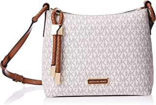 Michael Kors Lexington Large Logo Crossbody Bag for Women-Vanilla