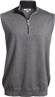 Averill's Sharper Uniforms Unisex Contrasting Collar Quarter-Zip Vest