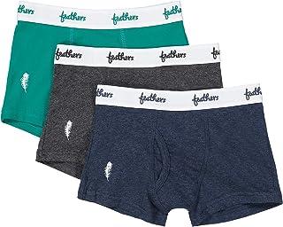 Feathers Boys Cotton Strech Tagless Boxer Underwear - (3/pack)