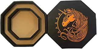 "Fantasydice- Cheromatic - War Unicron- Dice Tray - 8"" Octagon with Lid and Dice Staging Area- Holds 5 Sets( 7 Dice Set/ St..."