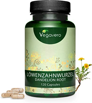 VEGAVERO® Dandelion Root Extract | 2800mg Highest Dosage | for Water Retention & Bloating| 120 Natural Capsules - NO Bovine Gelatine |10:1 Extract Powder | 100% Vegan