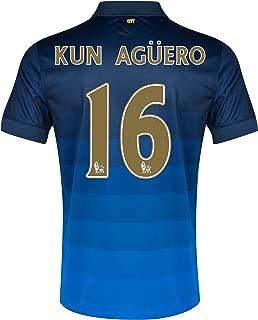 Manchester City Away 2014/15 Jersey Kun Aguero 16 Size Medium